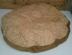 "Ashford Court Leather Patch 36"" round Dog Bed Cover Only Sol"