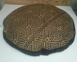 """Ashford Court Leather Patch 36"""" round Dog Bed Cover Only Abs"""