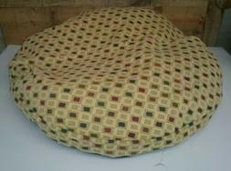 "Ashford Court Patch 36"" round Dog Bed Cover Only Ohio Beige"