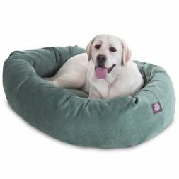 40 inch Azure Villa Collection Micro Velvet Bagel Dog Bed By
