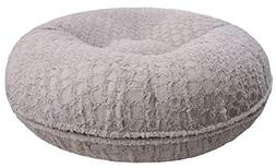 BESSIE AND BARNIE 42-Inch Bagel Bed for Pets, Large, Serenit