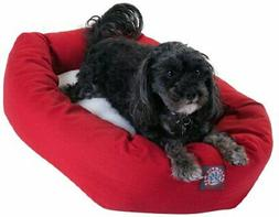 """Majestic Pet Products Bagel Dog Bed size: 24""""L x 19""""W x 7""""H,"""