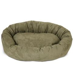 "Majestic Pet Small 24"" Bagel Dog Pet Bed MicroSuede - Sage"