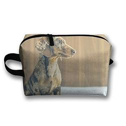 Travel Bags Dog At Bed Portable Storage Bag Clutch Wallets C