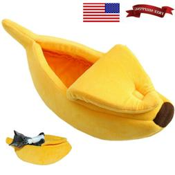 Banana Shape Pets Dog Cat Sleeping Bed House Mat Kennel Dogg