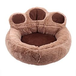 UEETEK Bear's Paw Pet Dog Cat Bed House Soft Warm Kennel Nes