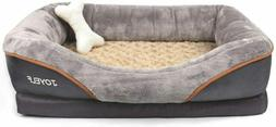 JOYELF Orthopedic Dog Bed Memory Foam Pet with Removable Sma
