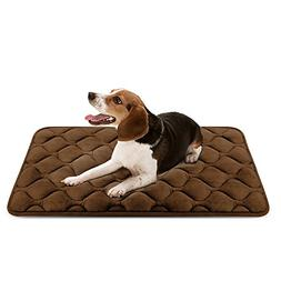 Dog Bed Mat Washable - Soft Fleece Crate Pad - Anti-Slip Mat
