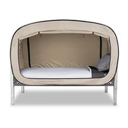Privacy Pop Bed Tent  - TAN