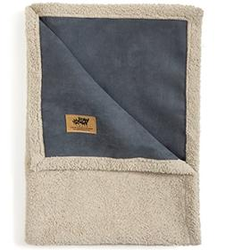 West Paw Big Sky Dog Blanket and Throw, Faux Suede/Silky Sof