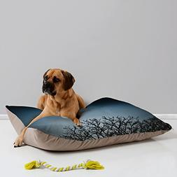Deny Designs Bird Wanna Whistle Moon Pet Bed, 40 by 30-Inch