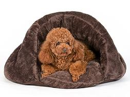 PLS Pet Cuddle Pouch Pet Bed , Bag, Covered Hooded Pet Bed I