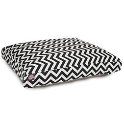 Black Chevron Extra Large Rectangle Indoor Outdoor Pet Dog B