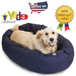 "BLUE - Donut Bagel Animal Pet Dog Bed - 40"" Large 360° Bols"