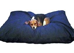blue memory foam shredded dog bed pillow