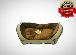 K&H Pet Products Bolster Couch Pet Bed  Large Mocha/Tan 28""
