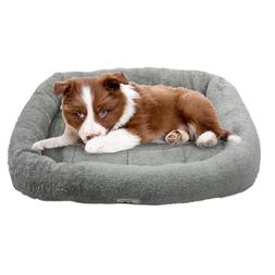 Furpawz Bolster Dog Bed - Extra Thick Bolster - Available in