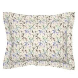 Borzoi Russian Dog Paisley Lover Pillow Sham by Roostery