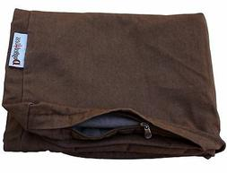 Dogbed4less 37X27X4 Inches size Brown Color Denim Jean Dog P