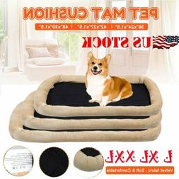 brown pet dog cat bed cushion mat
