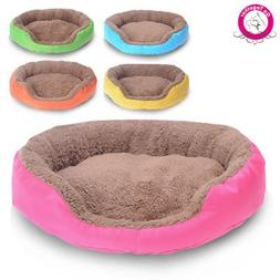BOSUN Candy Color Small Puppy Dog Bed Soft Fleece Warm Round