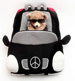 INCX Design-New Deluxe Cute Cozy Black Car Pet Beds Cover fo