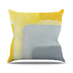"KESS InHouse CarolLynn Tice ""Inspired"" Grey Yellow Throw Pil"