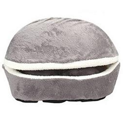 AhlsenL Cat Bed Cave, House Washable Hamburger Style Shell N