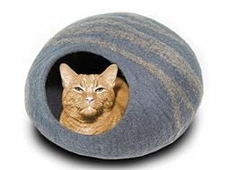 MEOWFIA Premium Cat Bed Cave  - Eco Friendly 100% Merino Woo
