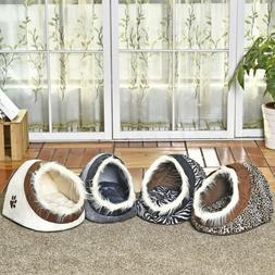 Cat Beds For Small Dogs Cozy Puppy House Cave Pet Kennel Ind