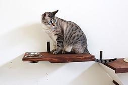 CatastrophiCreations Cat Dining Table Handcrafted Wall-Mount