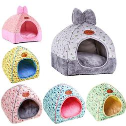 Cat Dog House Foldable Puppy Cave Pet Sleeping Warm Bed Mat