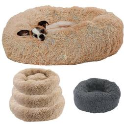 Self Warm Comfortable Soft Plush Fur Round Nest Pet Bed for