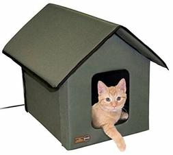 Outdoor Cat House Winter Heated Heater Shelter Pet Cave Wate
