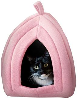 Cat Pet Bed, Igloo- Soft Indoor Enclosed Covered Tent/House