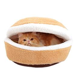 Cat Tent Bed, Inkach Small Dogs Warm Comfy Cave Soft Cushion