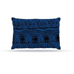 "Kess InHouse Catherine Holcombe ""Black and Blue"" Pattern Fle"