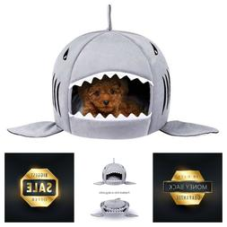 Cave Bed Shark Pet House for Small Medium Dog Cats with Remo