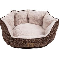 Precision Pet Clamshell Bed, Chocolate