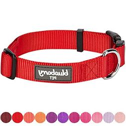 Blueberry Pet 32 Colors Classic Dog Collar, Rouge Red, Mediu