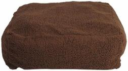 CPC Cloudy Sherpa Pet Pouf Bed, 30 x 30 x 10-Inch, Chocolate