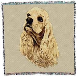 Pure Country Weavers - Cocker Spaniel Woven Throw Blanket wi