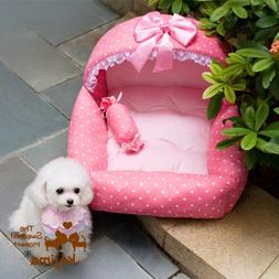 Colorfulhouse Princess Bed Design Puppy Bed Soft Suede Dog H