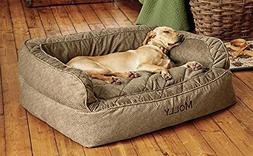 Orvis Comfortfill Couch Dog Bed/Small Dogs Up to 40 Lbs, Bro