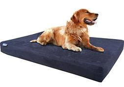 Dogbed4less Premium Orthopedic Memory Foam Dog Bed for Large