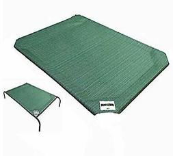 Coolaroo Elevated Dog Bed Replacement Cover Large Green Brea
