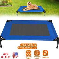 Cooling Elevated Dog Bed Lounger Sleep Pet Cat Raised Cot Ha