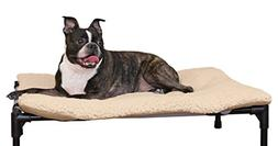 "K&H Pet Products Original Pet Cot Pad Medium Tan 25"" x 32"""