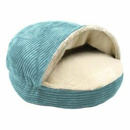 Precious Tails Cozy Corduroy Round Cave Bed for Dogs and Cat