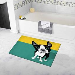 """InterestPrint Cute Boston Terrier Dog with Space 20"""" X 32"""" S"""